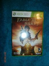 Fable 3 III (Microsoft XBOX 360, 2010) NTSC J game English & Chinese Texts