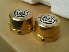 "Harley Davidson ""Celtic Brass"" Front Axle/Nut Covers"