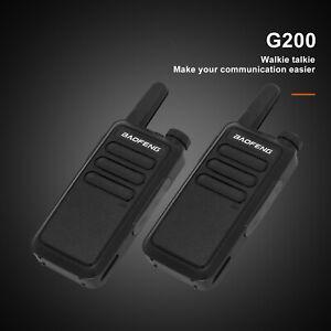 2x Baofeng Walkie Talkie Long Range 2 way Radio UHF 400-470MHZ 16CH +  Headset