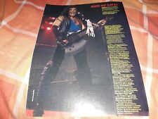 Kiss Gene Simmons A4 magazine size poster with tour dates