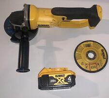 Dewalt 20v DCG412 20 Volt Cordless Angle Grinder & 20 Volt 4AH Battery