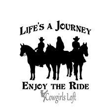 New listing Horse Decal trail rider cowboy cowgirl Life Journey Enjoy Ride truck car decal