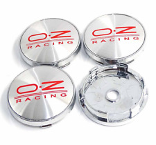 "4x60mm/2.36"" Chrome&Red OZ Racing Emblem Car Truck Wheel Center Rim Hubcap Cover"