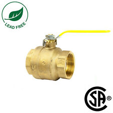 """NEW 2"""" IPS Full Port Brass Ball Valve CSA Approved 600 WOG Lead Free Threaded"""