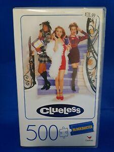 New Clueless Movie 500 Piece Puzzle In Plastic Retro Blockbuster VHS Case
