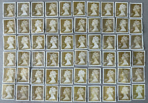 60 GOLD 1st Class Security Unfranked Postage Stamps Off Paper No Gum FV £51
