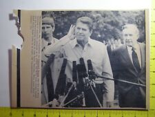 AP Wire Press Photo President Ronald Reagan and Chief of Staff Donald Regan