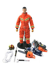 1:6 CHINA RESCUE FIREFIGHTER DOLL 2019 Equipped with firefighting equipment