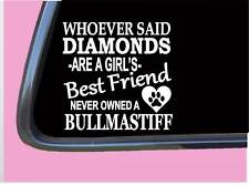 "BullMastiff Diamonds Tp 474 Sticker 6"" Decal rescue dog english french"