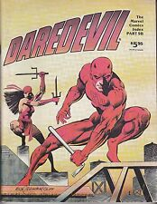 Daredevil - The Marvel Comics Index Part 9B Marvel Comics 1982 + More