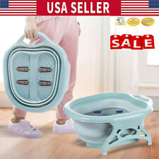Portable Folding Travel Foot Spa Pedicure Thick Buckets Hot Water Tub Massage Us