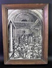 Albrecht DÜRER (1471 - 1528 Nürnberg) Holzschnitt - JESUS im TEMPEL - 1511