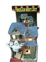 Vintage Porcelain Lighted Haunted Ghost House Target Nightlight