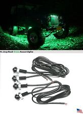 4x Green LED Off Road Rock Trail Under Body Accent Step Lights