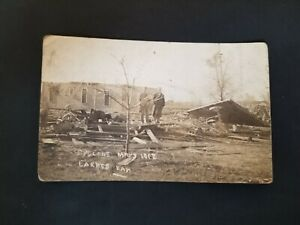1912 Larned Kansas Cyclone Aftermath Real Photo Postcard RPPC