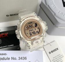 Casio G-Shock S Series * GMDS6900SR-7 Rose Gold Digital Clear Resin Watch Women