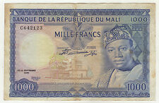 Mali 1000 Francs 22-9-1960 Pick 9 VF See Photo Circulated Banknote