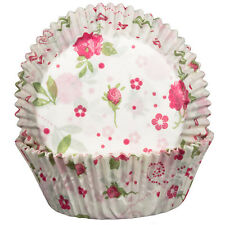 Floral Rose Cupcake Cases x60 Baking Muffin Flowers floral Valentine tea garden