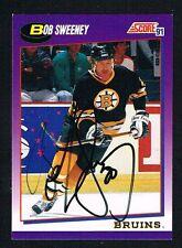 Bob Sweeney #176 signed autograph 1991-92 Score Hockey USA Release Card