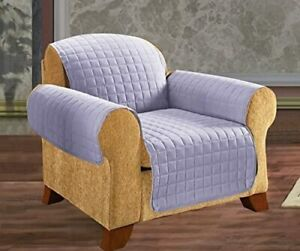 Elegant Comfort Quilted Microfiber Chair Furniture Protector Lilac/Purple New
