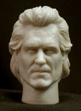 CUSTOM KURT RUSSELL RESIN UNPAITED HEAD SCULPT, Action figures 1/6 scale 12""