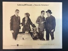 """11 x 14  """"DOMESTIC RELATIONS"""" 1922 LOBBY CARD MOVIE THEATER PROMO"""