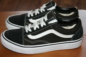 VANS OFF THE WALL SIZE UK 5.5 EUR 38.5 LADIES BLACK SUEDE/COTTON TRAINERS NEW