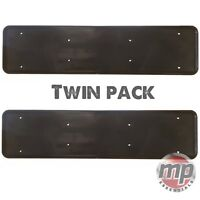 2 x Front & Rear ABS Plastic Car License Number Plate Holder Surround in BLACK