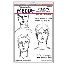 Ranger Dina Wakley Media Stamp set Strong Men mdr69607