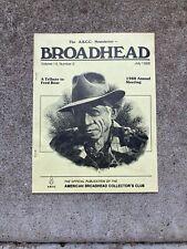 archery broadhead publications