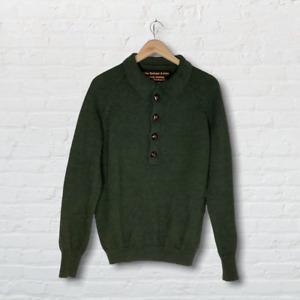 John Barbour & Sons Vintage Wool Green Hunting Style Jumper UK Size Large