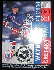 WAYNE GRETZKY UPPER DECK RETIREMENT CARD SET 1999 NHL HALL OF FAME
