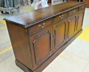Large Dark Wooden Sideboard Servery Cabinet Cupboard and Drawers