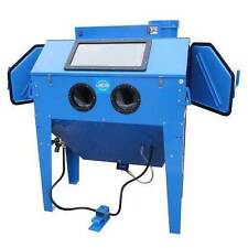 Sand Blasting Cabinet 420l With Dust Exactor for Rust Removal & Restoration