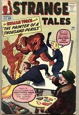 Strange Tales #108-1963 vg-/vg Human Torch Merlin / Jack Kirby / Steve Ditko