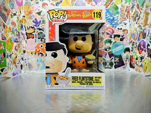 Funko Pop! Fruity Pebbles Fred Flintstone with Cereal #119 WITH POP PROTECTOR!!