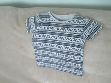 Boys 3-4 Years - Light Grey Patterned T-Shirt - Rebel