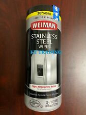 Weiman STAINLESS STEEL Cleaning Wipes 30ct Appliances Car Kitchen ~ NOW 20% MORE