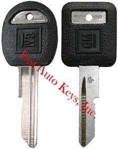 "2 NEW GM Logo OEM ""A"" IGNITION +""B"" DOORS/TRUNK Key Blanks Uncut 593196 + 593197"