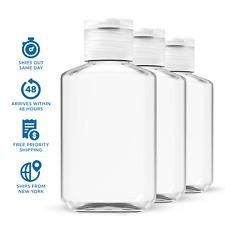 45 pack 2 oz (60 ml) Empty Clear PET Plastic Bottles With Flip Top Caps