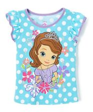 Disney Sofia the First Toddler Girl Polka Dot Top Size 5T