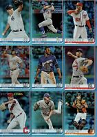 2019 Topps Series 1 RAINBOW FOIL CARDS - You Pick your Cards - Complete Your Set