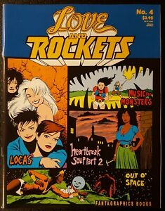 Love & Rockets #4 (Fantagraphics Books ) 1991 2nd Print VF