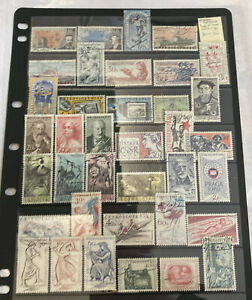 Czechoslovakia Stamps - Page Of Used 1959-1961