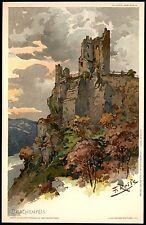 TOP Künstler-AK sign. F. REISS - DRACHENFELS - Freytags Kunstblätter ~ 1900