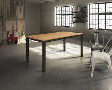 Table Plan Oak, Metal Frame (798-799), Extensible, Various Sizes
