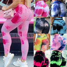 Mujeres contra la celulitis Pantalones de Yoga Cintura Alta Leggings Pantalones De Entrenamiento Gimnasio Push Up