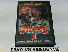 BARE KNUCKLE II STREETS  OF RAGE 2 SEGA MEGADRIVE JAP NTSC!