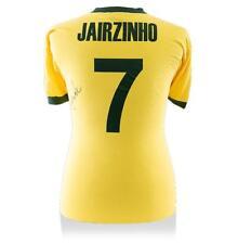 Jairzinho atrás firmado autógrafo Jersey Camisa Casa brasileño y estilo retro