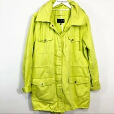 Hurley Florescent Yellow Utility jacket size XL Woman's Cargo Coats